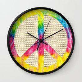 Tie-Dye Peace Sign Wall Clock