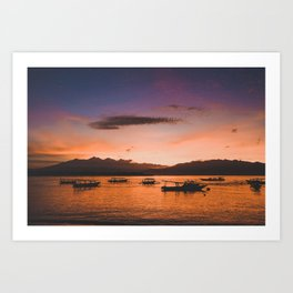 Indonesian Sunrise Art Print