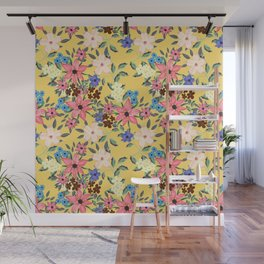 Stylish garden floral design Wall Mural