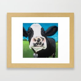 Flossie the Freckled Cow Framed Art Print