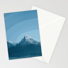 Pale Blue Montains Stationery Cards