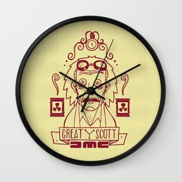 Great Scott - Emmet Brown Wall Clock