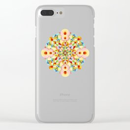 Pastel Carousel Mandala Clear iPhone Case