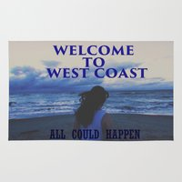 west coast Area & Throw Rugs featuring In The West Coast by Dr.RPF