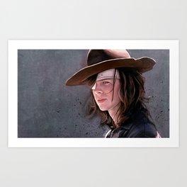 Carl Grimes Before The Fall - The Walking Dead Art Print
