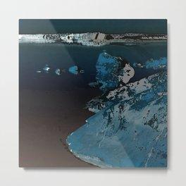 Mystic night seascape Metal Print