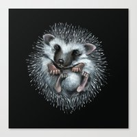 hedgehog Canvas Prints featuring hedgehog by Kristina Gufo