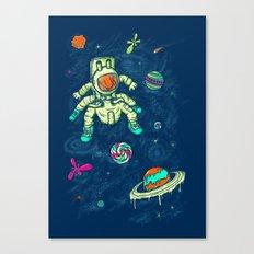 Antronaut And The Sugar Galaxy Canvas Print
