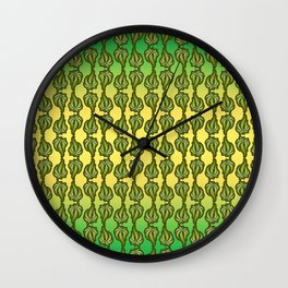 Ganja Pattern Wall Clock