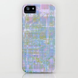Paint the wall with many colors and shapes iPhone Case