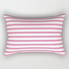 Bright Pink Peacock Mattress Ticking Wide Striped Pattern - Fall Fashion 2018 Rectangular Pillow