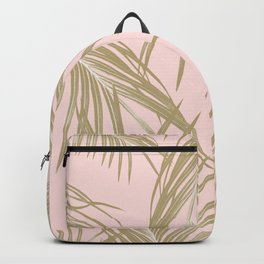 Blush Gold Palm Leaves Dream #1 #tropical #decor #art #society6 Backpack