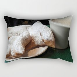 Beignets and Coffee, a New Orleans Treat Rectangular Pillow