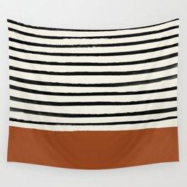 Burnt Orange x Stripes Wall Tapestry