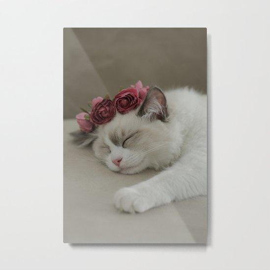 SLEEPY KITTY by Monika Strigel Metal Print