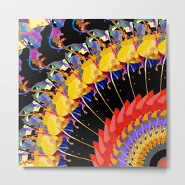 Abstract Collage of Colors Metal Print