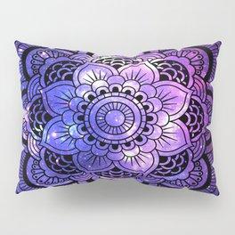Mandala : Purple Blue Galaxy Pillow Sham