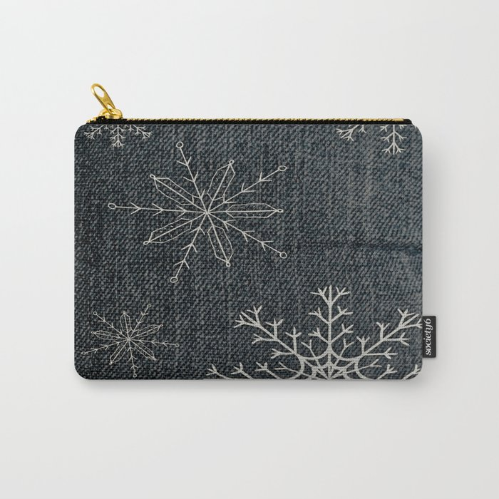 Denim Snowflake Carry-All Pouch