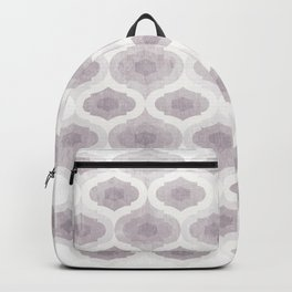 Geometric tiles pattern - Purple Backpack