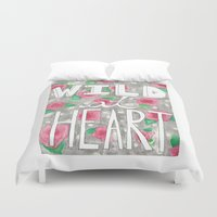 into the wild Duvet Covers featuring Wild by SweetLemons