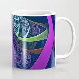 An UltraViolet Black Light Rainbow of Glass Shards Coffee Mug