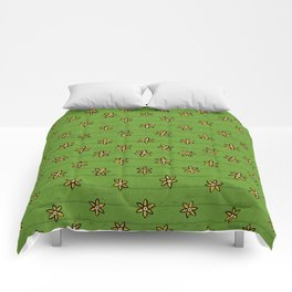 zuhur green Comforters