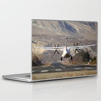 aviation Laptop & iPad Skins featuring ATR ATR-42-500 Aviation Scenic Dangerous No way out Landing aircraft by Aviator