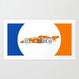 McLaren M16C - Trailing Liveries Art Print