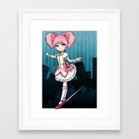 madoka Framed Art Prints featuring Madoka by Samrri