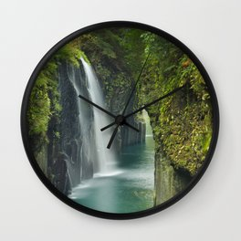 The Takachiho Gorge on the island of Kyushu, Japan Wall Clock