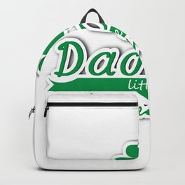 Daddy's Little Leprechaun St Patricks Day Kids Or Boy Backpack