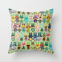 Rabbit Crossing Throw Pillow