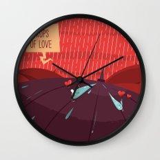 :::Rain drops of love::: Wall Clock