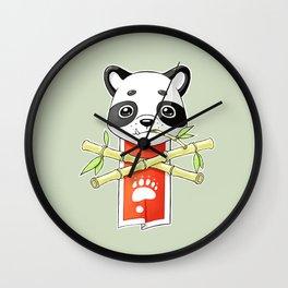 Panda Banner Wall Clock