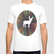young deer Mens Fitted Tee White MEDIUM