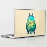 miyazaki Laptop & iPad Skins featuring He Is My Neighbor by Victor Vercesi