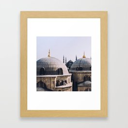 A view from Hagia Sophia Framed Art Print