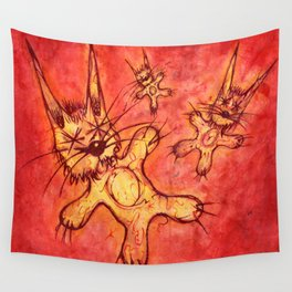 Record Cover for some Jazzed Rabbits Wall Tapestry