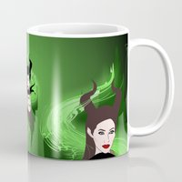 maleficent Mugs featuring Maleficent by Pendientera