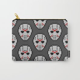Knitted Jason hockey mask pattern Carry-All Pouch