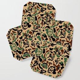 English Bulldog Camouflage Coaster