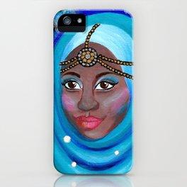EID - Muslim Girl with Hijab - Acrylic Painting iPhone Case