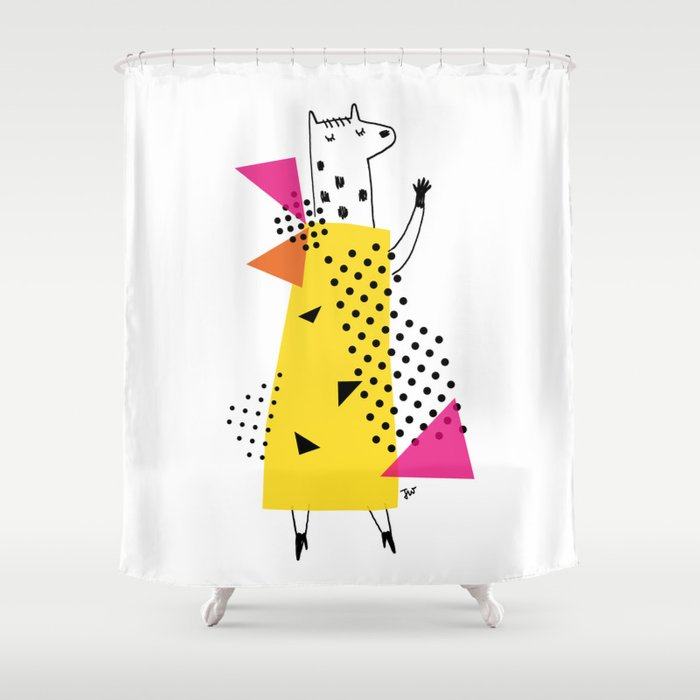 CHIC SATURDAY NIGHT DIVA Shower Curtain By Joannawiejak
