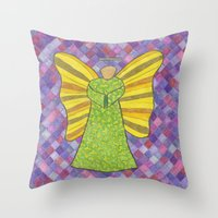 military Throw Pillows featuring Military Angel by GT6673