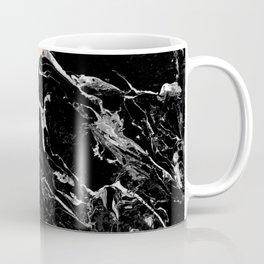 Modern elegant peach black marble color block Coffee Mug