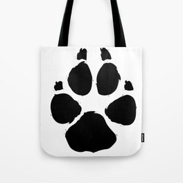 Brushy Paw Tote Bag