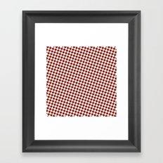 So cross… red! Framed Art Print
