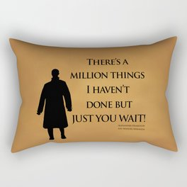 Just You Wait - Alexander Hamilton Design Rectangular Pillow