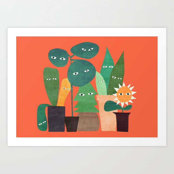 The plants are watching (paranoidos maximucho) Art Print
