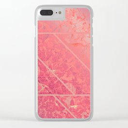 Pink Marble Texture G281 Clear iPhone Case